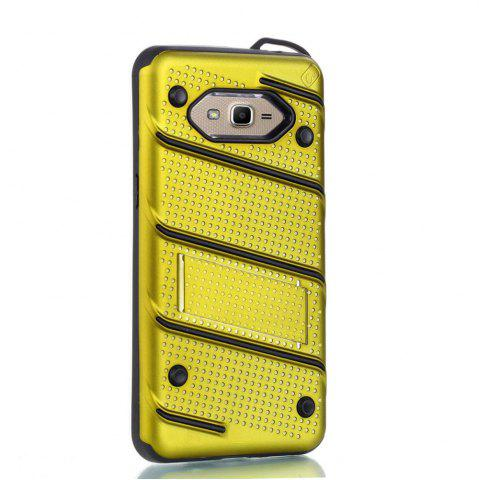 Trendy Wkae Ultra Thin Dual Layer Shockproof TPU Back Cover Case with Kickstand for Samsung Galaxy J2 Prime