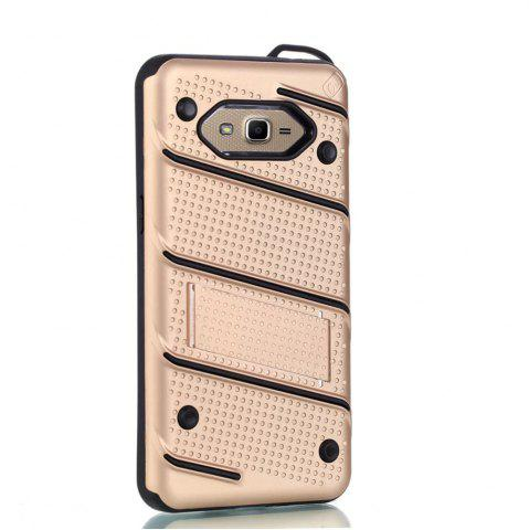 Chic Wkae Ultra Thin Dual Layer Shockproof TPU Back Cover Case with Kickstand for Samsung Galaxy J2 Prime