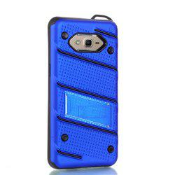 Wkae Ultra Thin Dual Layer Shockproof TPU Back Cover Case with Kickstand for Samsung Galaxy J2 Prime -