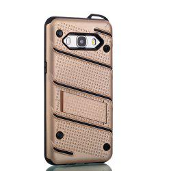 Wkae Ultra Thin Dual Layer Shockproof TPU Back Cover Case with Kickstand for Samsung Galaxy J5 2016 -