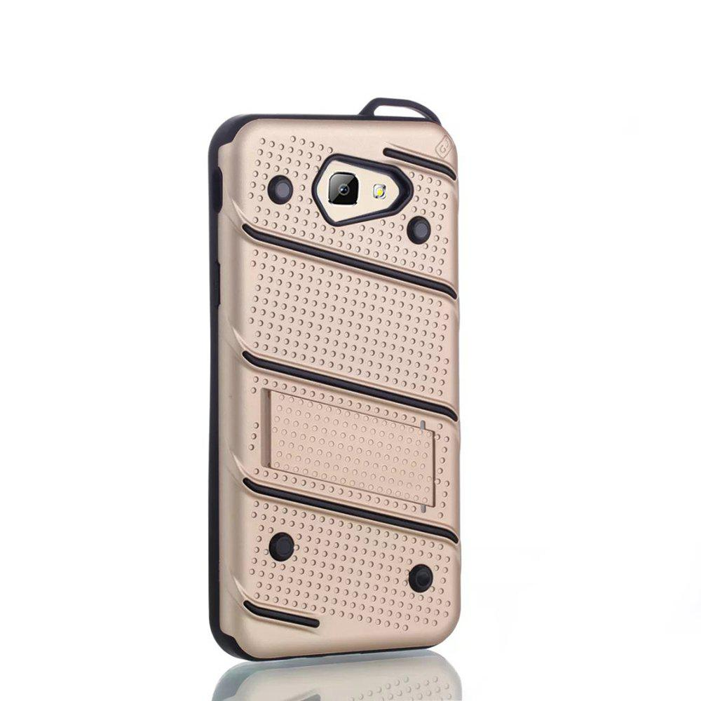 Chic Wkae Ultra Thin Dual Layer Shockproof TPU Back Cover Case with Kickstand for Samsung Galaxy J5 Prime