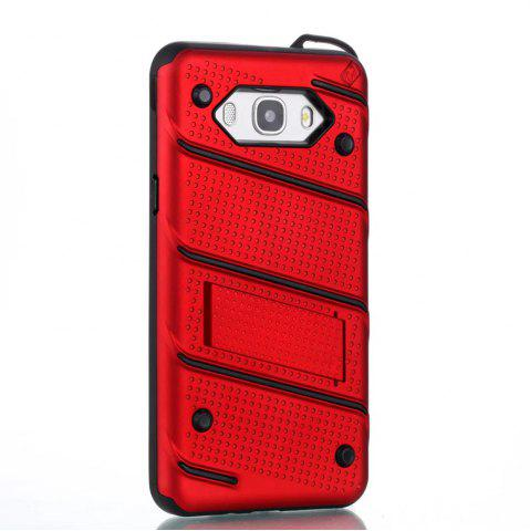 Buy Wkae Ultra Thin Dual Layer Shockproof TPU Back Cover Case with Kickstand for Samsung Galaxy J7 2016