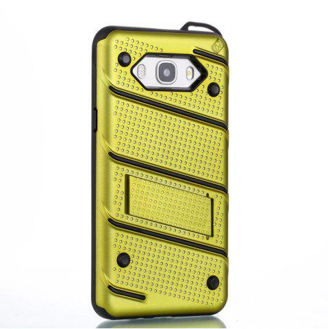 Best Wkae Ultra Thin Dual Layer Shockproof TPU Back Cover Case with Kickstand for Samsung Galaxy J7 2016