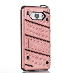 Wkae Ultra Thin Dual Layer Shockproof TPU Back Cover Case with Kickstand for Samsung Galaxy J7 2016 -