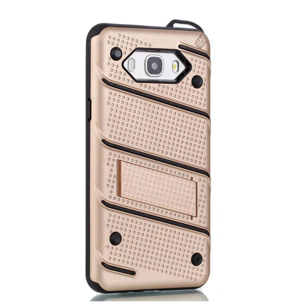 Outfits Wkae Ultra Thin Dual Layer Shockproof TPU Back Cover Case with Kickstand for Samsung Galaxy J7 2016