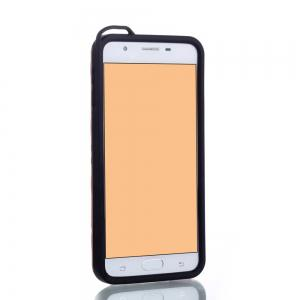 Wkae Ultra Thin Dual Layer Shockproof TPU Back Cover Case with Kickstand for Samsung Galaxy J7 Prime -
