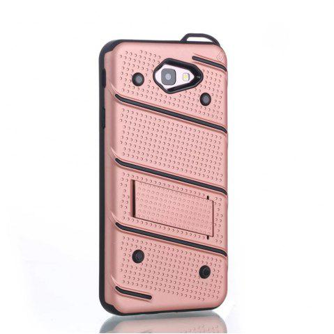 Fashion Wkae Ultra Thin Dual Layer Shockproof TPU Back Cover Case with Kickstand for Samsung Galaxy J7 Prime