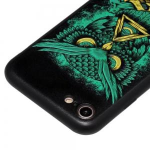 Wkae 3D Relief Style Color Printing Soft TPU Phone Case for iPhone 7 / 8 -