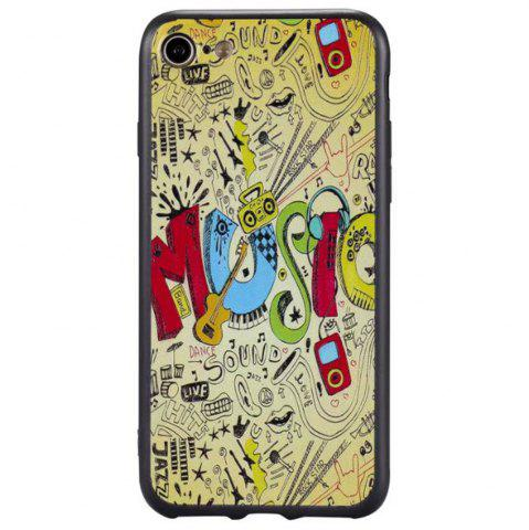 Outfits Wkae 3D Relief Style Color Printing Soft TPU Phone Case for iPhone 7 / 8