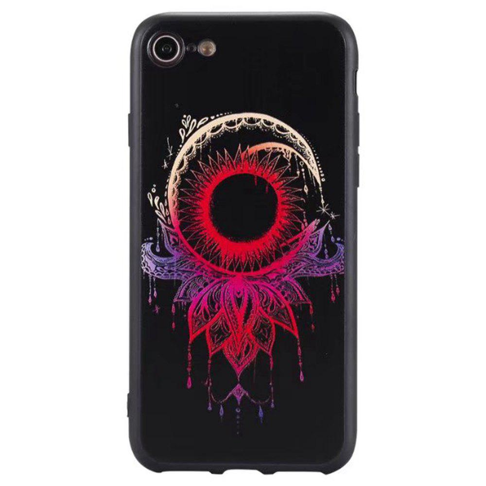 Outfit Wkae 3D Relief Style Color Printing Soft TPU Phone Case for iPhone 7 / 8