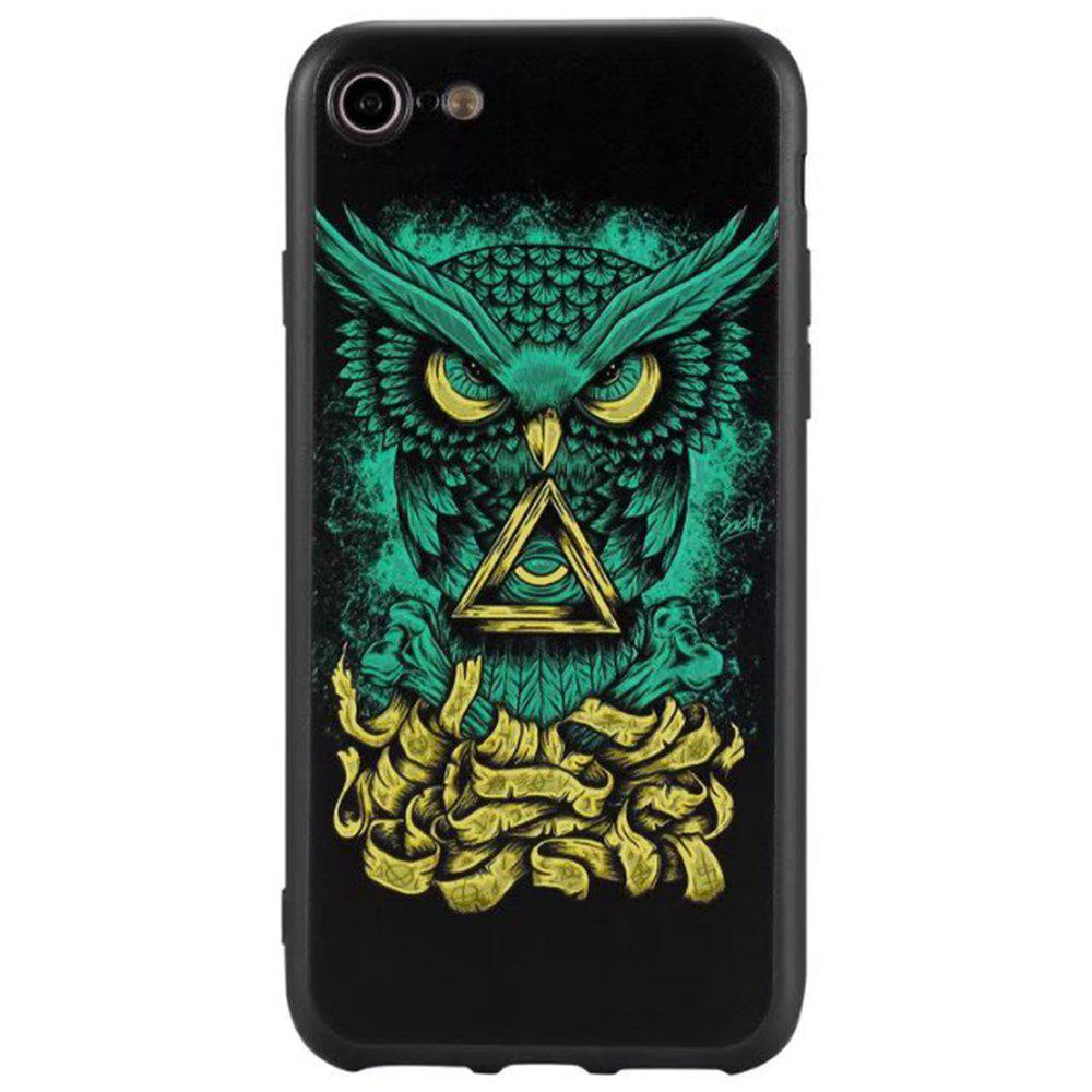 Latest Wkae 3D Relief Style Color Printing Soft TPU Phone Case for iPhone 7 / 8