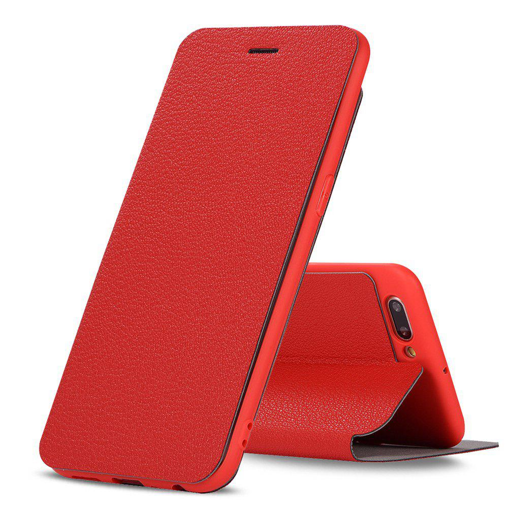 Discount Colourful Textured Ultra-Slim Flip PU Leather Case for OPP0 R11