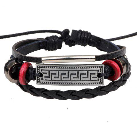 Hot Retro Alloy Accessories Leather Bracelet