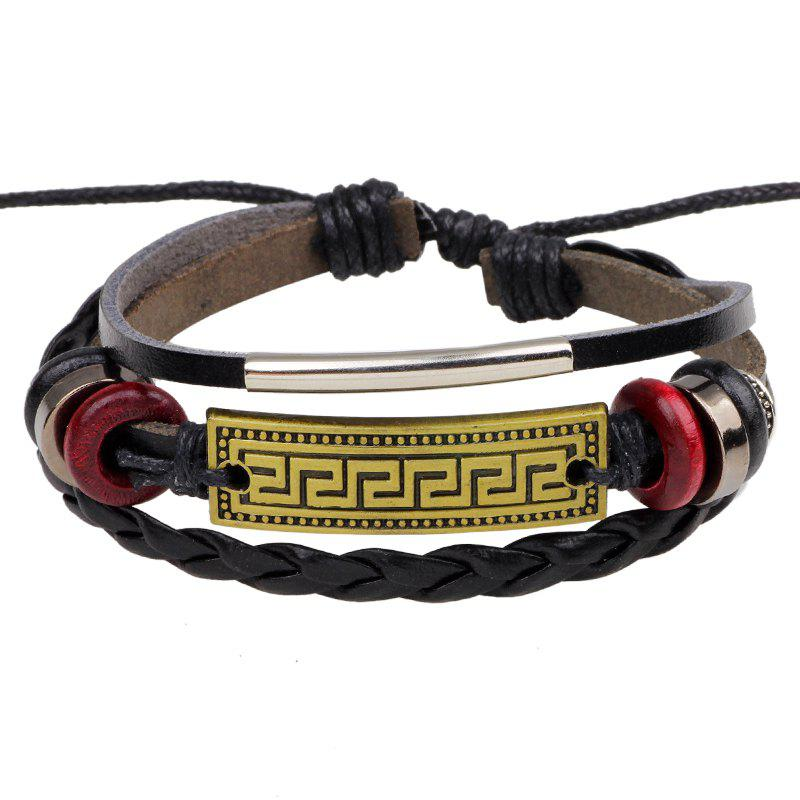 Buy Retro Alloy Accessories Leather Bracelet