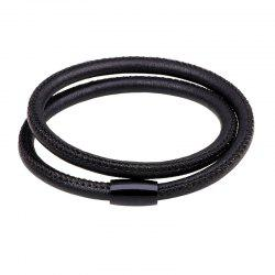 Sheepskin Hand Catenary Magnetic Buckle Two Laps - BLACK 2R2610#