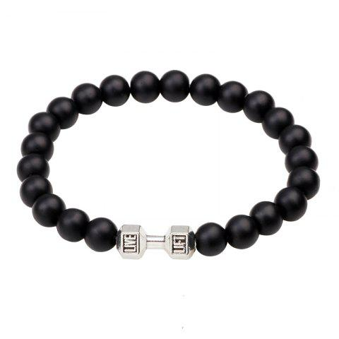 Buy Black Frosted Dumbbell Beaded Bracelet
