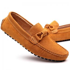 The Fall of New Shoes Slip-On Doug Foot Soft Bottom Shoes Doug Comfortable Leather Men'S Shoes -