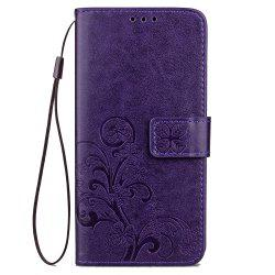 YC Lucky Clover Card Lanyard Pu Leather for Samsung   Note 8 -