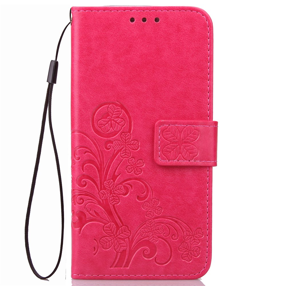 Outfits YC Lucky Clover Card Lanyard Pu Leather for Samsung   Note 8