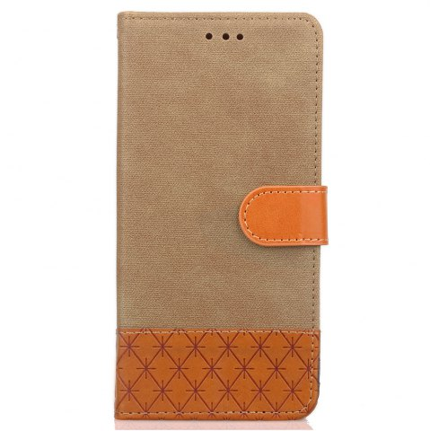 Cheap YC Hit color Cowboy stripes Leaf Card Lanyard Pu Leather for LG K8 (2017)