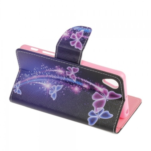 Purple Butterfly Knife and Cut Color Phone Case for Sony X -
