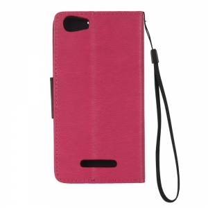 Hit Color PU Phone Case for Wiko Lenny 2 -
