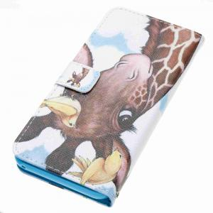 Bird Deer Painted PU Phone Case for Samsung Galaxy S8 Plus -