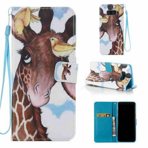 Discount Bird Deer Painted PU Phone Case for Samsung Galaxy S8 Plus