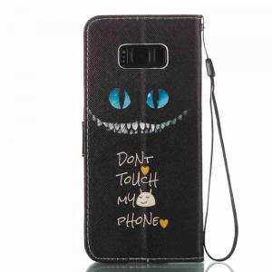 Blue Eyes Painted PU Phone Case for Samsung Galaxy S8 Plus -