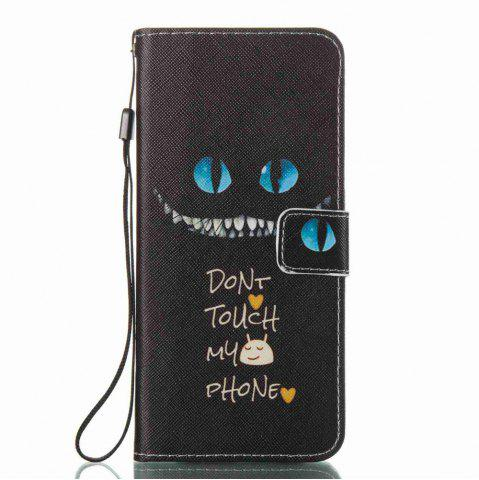Cheap Blue Eyes Painted PU Phone Case for Samsung Galaxy S8 Plus