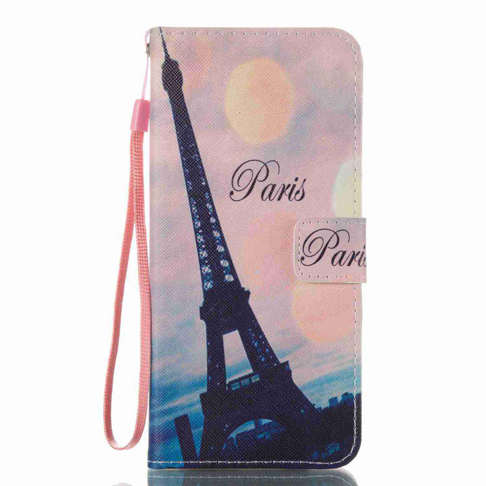 Online Leaning Tower Painted PU Phone Case for Samsung Galaxy S8 Plus