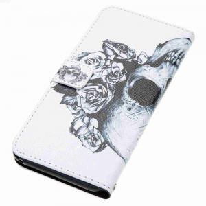 Skeleton Painted PU Phone Case for Samsung Galaxy S8 Plus -