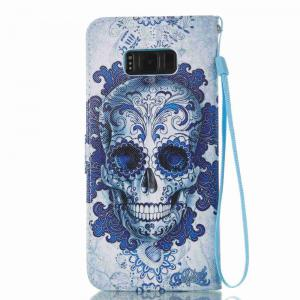 Cloud Ghost Head Painted PU Phone Case for Samsung Galaxy S8 Plus -