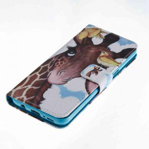 Bird Deer Painted PU Phone Case for Samsung Galaxy S8 -