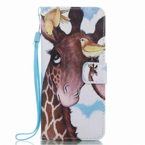 Shop Bird Deer Painted PU Phone Case for Samsung Galaxy S8