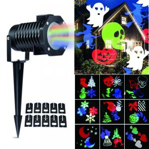 Supli Outdoor Christmas Projector Lights Multicolor Rotating Led Light Projection Waterproof Snowflake Spotlight-10pcs Pattern - COLORFUL US