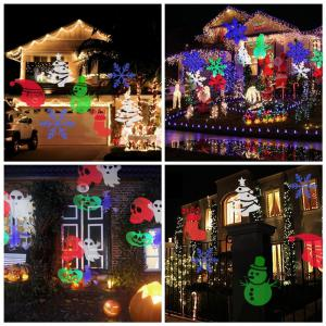 Supli Outdoor Christmas Projector Lights Multicolor Projecteur Projecteur à Projection Lumière Projecteur Projectile-10pcs - Coloré UE