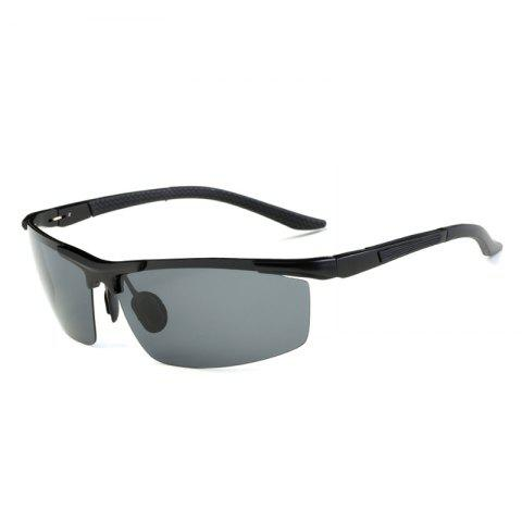 Shop TOMYE 8530 Sports Polarized Lens  for Men and Women High-Definition Outdoor Cycling Sunglasses BLACK+GREY