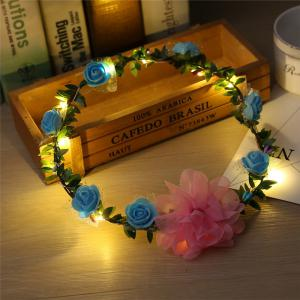 AY - hq208 Rose Flower Hairband Bridesmaid Wreaths for Party -