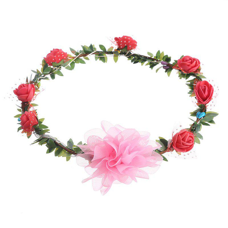 Best AY - hq208 Rose Flower Hairband Bridesmaid Wreaths for Party