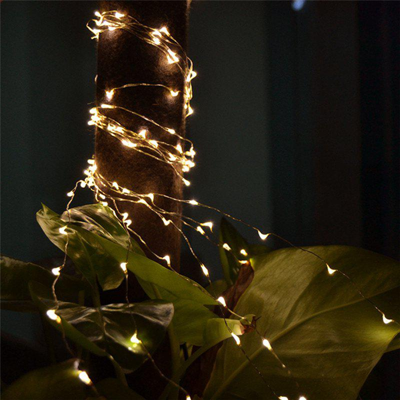 2M 20-LED Lights Battery Powered Copper Wire String Lights for Christmas Festival Wedding Party Home DecorationHOME<br><br>Color: WHITE;