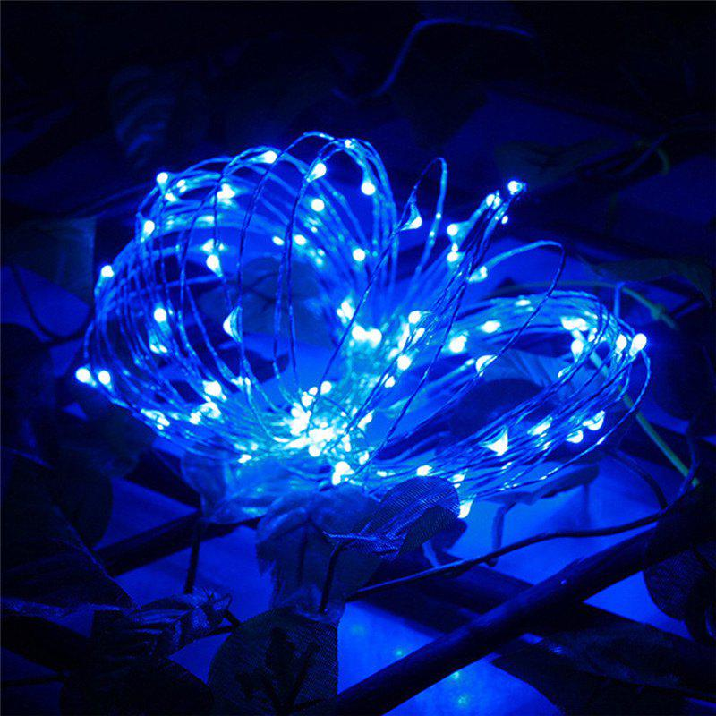 AY - hq215 10M 100 LED Copper String Lights for Christmas DecorationHOME<br><br>Color: BLUE LIGHT; Material: Copper,PVC; Usage: Birthday,Christmas,Easter,Halloween,New Year,Party,Performance,Stage,Wedding;