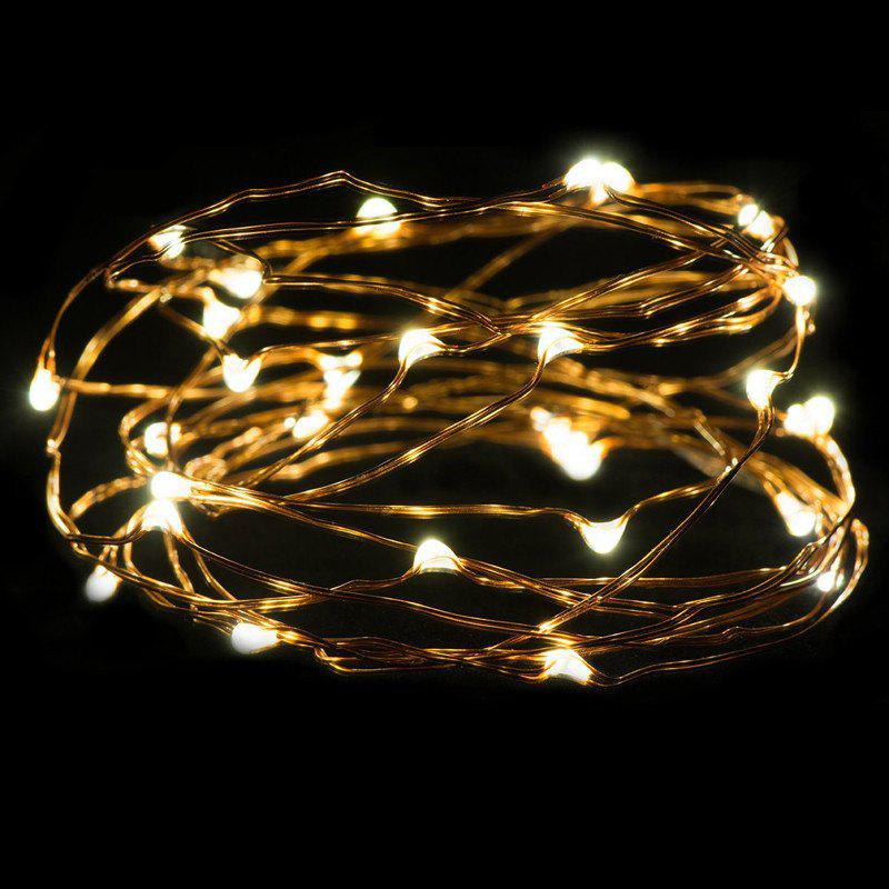 AY - hq217 2M 20 LED Copper Wire Light for Christmas Tree DecorationHOME<br><br>Color: WARM WHITE LIGHT; Material: Copper,PVC; Usage: Birthday,Halloween,Party,Performance,Stage,Wedding;