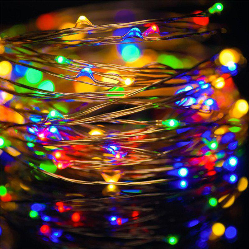 AY - hq219 10M 100 LED Copper String Lights with USB for Festival DecorationHOME<br><br>Color: COLORFUL; Material: Copper,PVC; Usage: Birthday,Christmas,Easter,Halloween,New Year,Party,Performance,Stage,Wedding; Package Quantity: 1 x LED String Light;