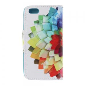 Triangle Button Painted PU Phone Case for Iphone 5 / 5S / Se -