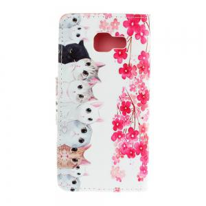 Triangle Button Painted PU Phone Case for Samsung Galaxy A3 2016 -