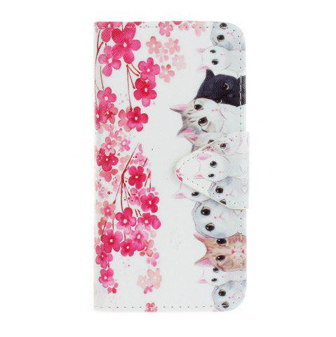 Shops Triangle Button Painted PU Phone Case for Samsung Galaxy A3 2016