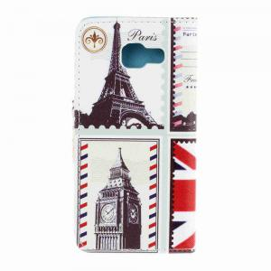 Triangle Button Painted PU Phone Case for Samsung Galaxy A5 2016 -