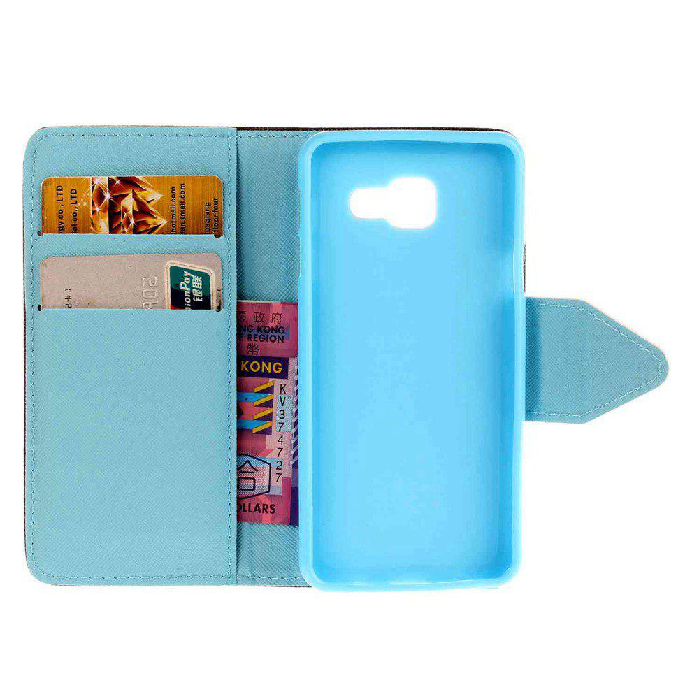 Shop Triangle Button Painted PU Phone Case for Samsung Galaxy A5 2016