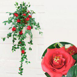 1 Bouquet Rose Wall Mounted Artificial Flower Home Decoration - 90CM -